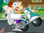 game Phineas And Ferb Crazy Motorcycle